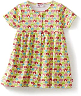 Zutano 女婴蘑菇短袖连衣裙