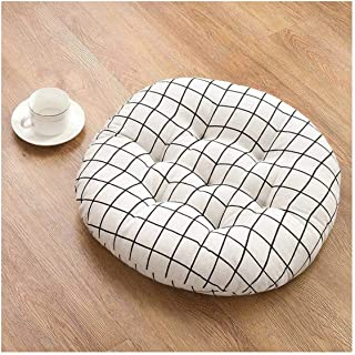 Simple Thicken Chair Cushions Round Car Seat Pad Tatami Floor Pad Mats Pillows for Home,Mibaifangge,About 45X45Cm