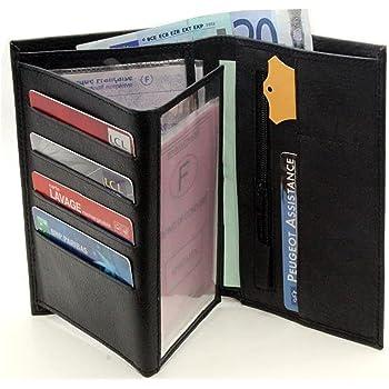 Portefeuille Homme Porte Carte Crédit Visite Monnaie En Cuir Synthétique Neuf G