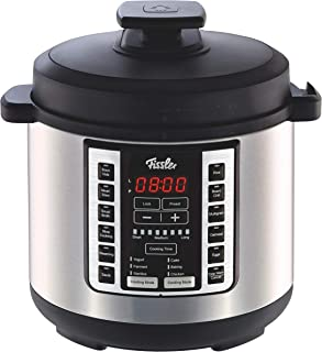 Fissler Souspreme Multi Pot, 18 1-Touch Programs, Sous Vide, Slow-Cooking, Pressure Cooker, Fermenting, Saute', Steamer, 6-Quart, Stainless Steel