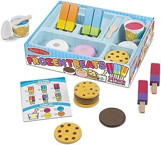 Melissa & Doug Wooden Frozen Treats Ice Cream Play Set (24 pcs) - Play Food and Accessories