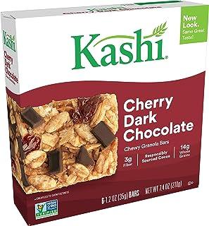 Kashi Chewy Cherry Dark Chocolate Granola Bars - Vegan, 7.4 Oz (Box of 6)
