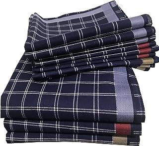 JEMIDI - Fazzoletti in tessuto da uomo, 40 cm x 40 cm, in cotone, confezione da 12 pezzi, 100% cotone