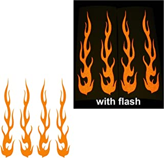 flame stickers for bikes