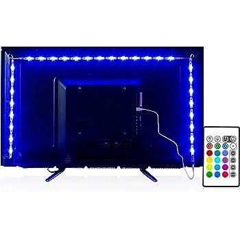 PANGTON VILLA Led Strip Lights 6.56 Feet for 40-60 Inch TV Usb Backlight Kit with Remote Rgb 16 Colors Bias Mood Lamp for Bedroom, Room Hdtv
