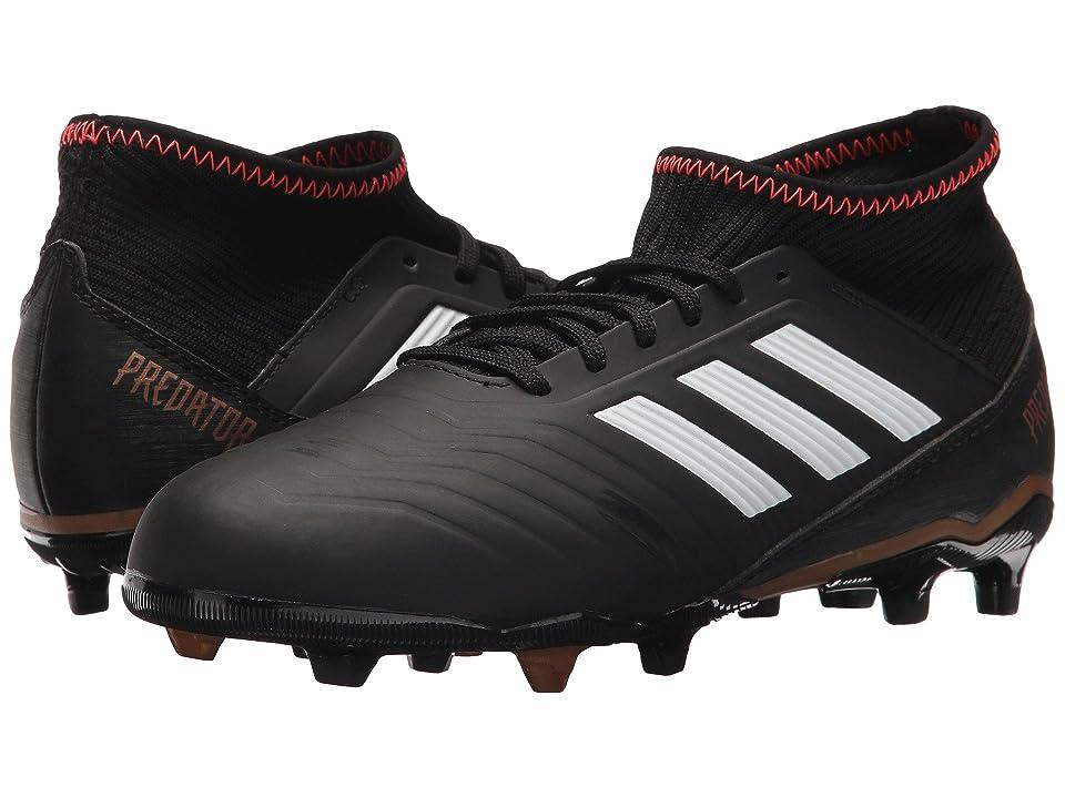 adidas Kids Predator 18.3 FG (Little Kid/Big Kid) (Black/White/Solar Red) Kids Shoes