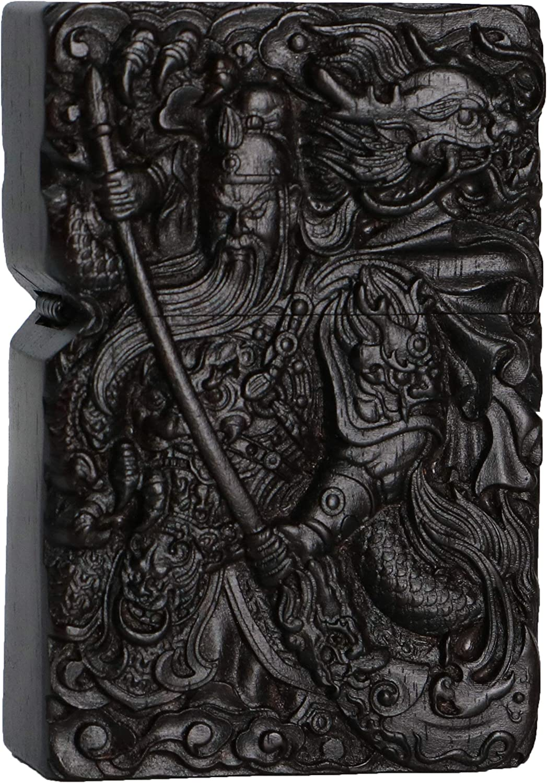 excellence Natural Ebony Black Wood Nashville-Davidson Mall Carved Lighter Shell Zippo Modu For Box