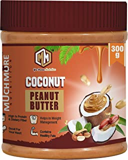 MUCHMORE NUTRITION Coconut Peanut Butter Smooth|Peanut Butter 300g |Peanut Butter