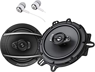 """Pioneer TS-A1670F 6.5"""" 320 Watts Max 3-Way Car Speakers Pair Carbon and Mica Reinforced Injection Molded Polypropylene Bun..."""