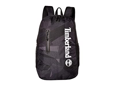 Timberland 27L Zip Top Backpack (Black Camo) Backpack Bags