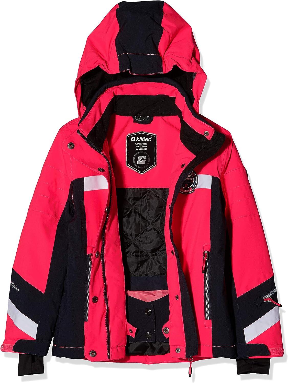 Killtec Carmen Jr Veste de Ski imperm/éable pour Fille avec Capuche zipp/ée Amovible et Jupe Pare-Neige Colonne deau 10000