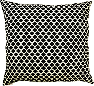 Amazon Com Canaan Company Beth Decorative Throw Pillow Black White Home Kitchen