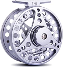 Sougayilang Fly Fishing Reel with Ultralight Anti-Oxidation A7075 Space Aluminium, Stainless Steel Drag System, Left Rigth Hand Exchange, 2+1 NSK Deep Groove Ball Bearing (5/6 WT)