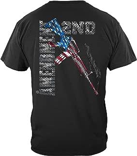 2nd Amendment AR15 with American Flag Black T-Shirt - RN2193