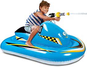 Discovery Kids Inflatable Ride-On Pool Float with Integrated Water Blaster
