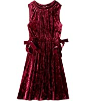 Denise Crushed Velvet Velour Dress (Big Kids)