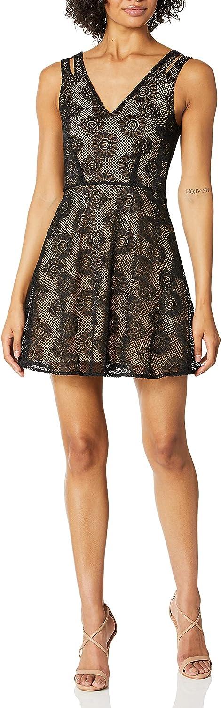 Ali & Jay Women's Wrigley Gardens Sleeveless Lace Fit &Flare Mini Dress