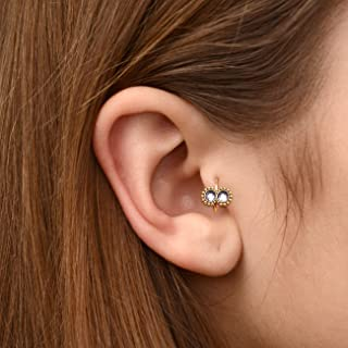 Surgical Steel Tragus Clicker Jewelry - CZ Cartilage Hoop, Honch Piercing Jewelry, Tragus Hoop, Clicker Ring
