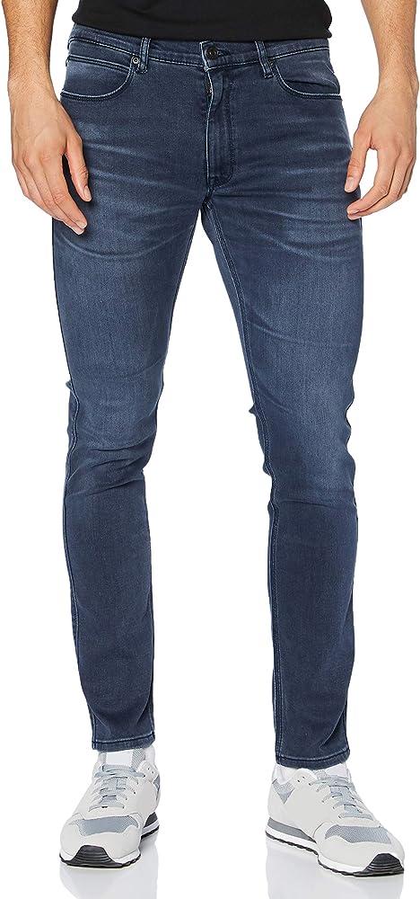 Hugo boss, jeans per uomo,in 95% cotone, 3% poliestere, 2% elastan 50430974