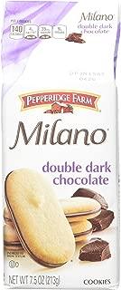 Pepperidge Farm Double Dark Chocolate Milano Cookies, 7.5-Ounce (Pack of 4)