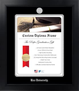 Name /& Tassel Graduation Diploma Frame 22 x 30 Cherry Signature Announcements Rice-University Undergraduate Doctorate Sculpted Foil Seal