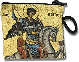 VGI Embroidered Tapestry Rosary Pouch (Saint George)