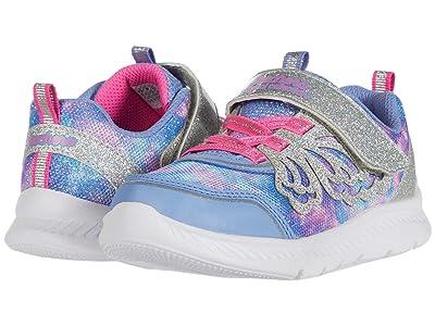 SKECHERS KIDS Sport Lighted Comfy Flex 2.0 302116N (Toddler) (Periwinkle/Pink) Girl
