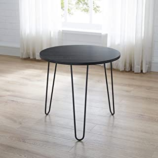 Classic Brands Mid-Century Modern Retro Hairpin Leg End Table Table, Rustic Black