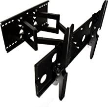 Mount-it! Samsung Compatible 37 Inch, 40 Inch,46, Inch, AND 55 Inch Tilting Dual - Arm Swiveling Tv Articulating Wall Mount Bracket For LCD/LED HDTV