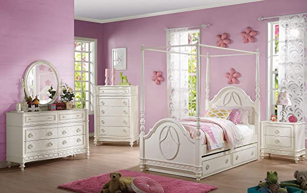 Acme 家具 30365 多萝西床头柜带 2 个抽屉象牙均码