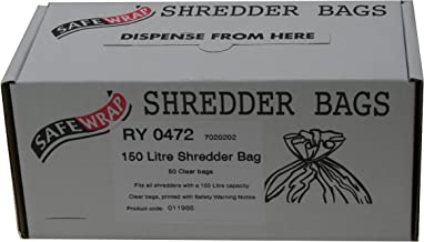 $58 » RY SAFEWRAP SHREDDER BAGS 150 LITRE PK50