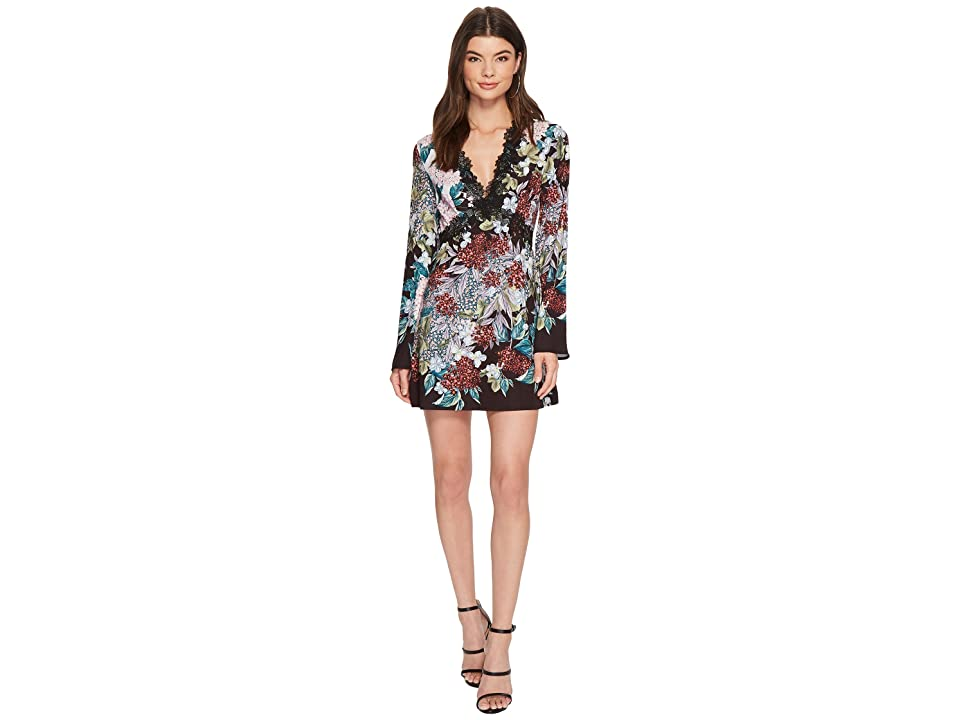 KEEPSAKE THE LABEL Lost Dreams Long Sleeve Mini Dress (Multi Floral) Women