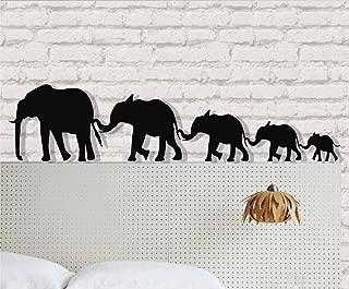 DEKADRON Elephant Wall Art - Big Elephant Family - 3D Wall Silhouette Metal Wall Decor Home Office Decoration Bedroom Living Room Decor Sculpture (18