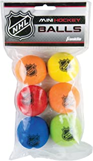 Franklin Sports Foam Mini Hockey Balls - NHL Approved - Foam - Six Pack - Assorted Colors