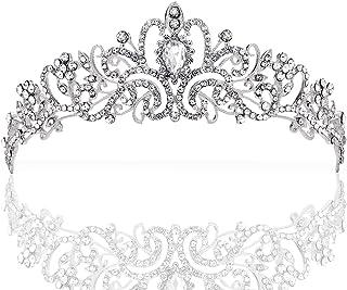 ZWOOS Wedding Tiara, Nuziale Diadema con Cristalli Strasscon Pettine per La Cerimonia Nuziale, Proms, spettacoli, Principe...
