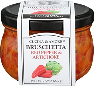 Cucina and Amore Piquillo and Artichoke Bruschetta 7.5 Ounce - Pack of 6