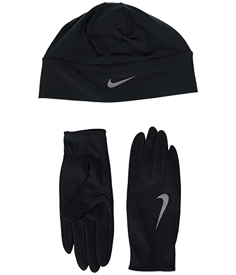 Nike Run Dry Hat and Gloves Set at Zappos.com 1b110cade07