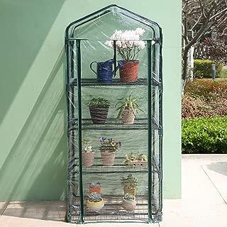 Worth 4 Tier Mini Greenhouse Indoor Outdoor Kit for Winter Zipper Door Seedlings & Seed Propagation Plant Growing
