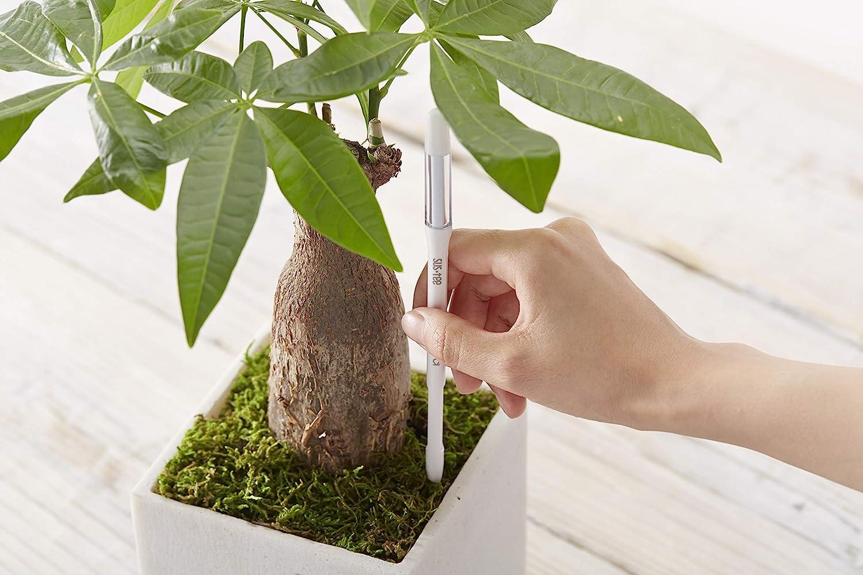 Evita que las plantas se marchiten 100/% hecho en Jap/ón Medio, Blanco No se necesitan bater/ías o pilas F/ácil de usar Juego de 2 Piezas Avisador de Riego Para Plantas SUSTEE Aquameter