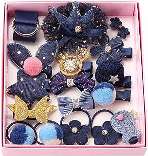 Rantecks 18PCS Baby Hair Accessories Set Gift Set Girl Hair Clips Hair Bow Cute Party Bowknot Flower Multi-Style Hairpin R...
