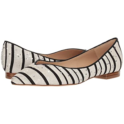 L.K. Bennett Luisa (Black/White Sequin Striped Jacquard) Women