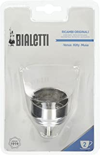 Bialetti 0800501 STD Funnel 2 Cups, Stainless Steel, Stainless Steel, 12 x 7 x 19 cm