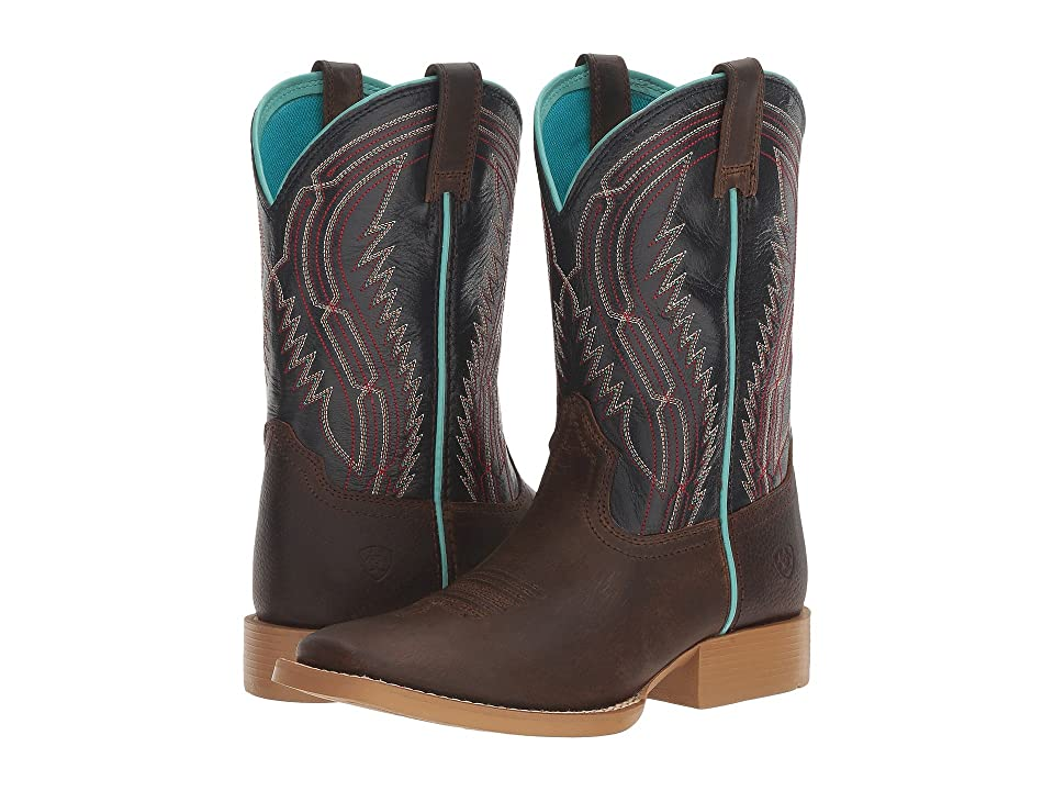 Ariat Kids Chute Boss (Toddler/Little Kid/Big Kid) (Distressed Brown/Old Blue) Cowboy Boots