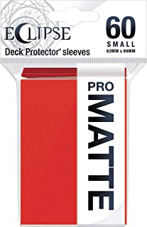 Ultra Pro Eclipse Series Card Sleeves - Small, Matt, Apple Red, Pack of 60 for Yugioh and Other Small Sized Trading Cards
