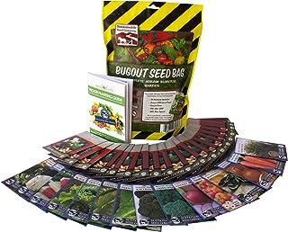 22,000 Non GMO Heirloom Vegetable Seeds, Survival Garden, Emergency Seed Vault, 34 VAR, Bug Out Bag - Beet, Broccoli, Carr...