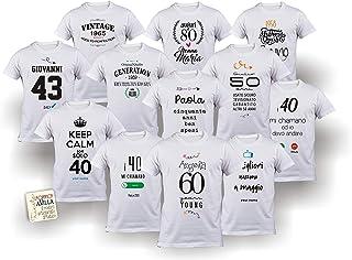 Maglietta compleanno spiritosa personalizzabile