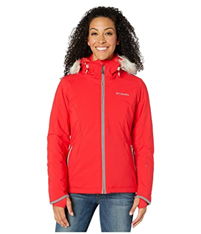 Columbia Alpine Slidetm Jacket (Red Lily/City Grey Heather) Women