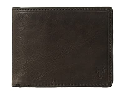 Frye Logan Slim ID Billfold (Slate Antique Pull-Up) Bill-fold Wallet