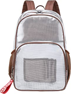 Mygreen Clear Backpack PVC Heavy Duty Transparent Backpack Bag for 15.6 Laptop