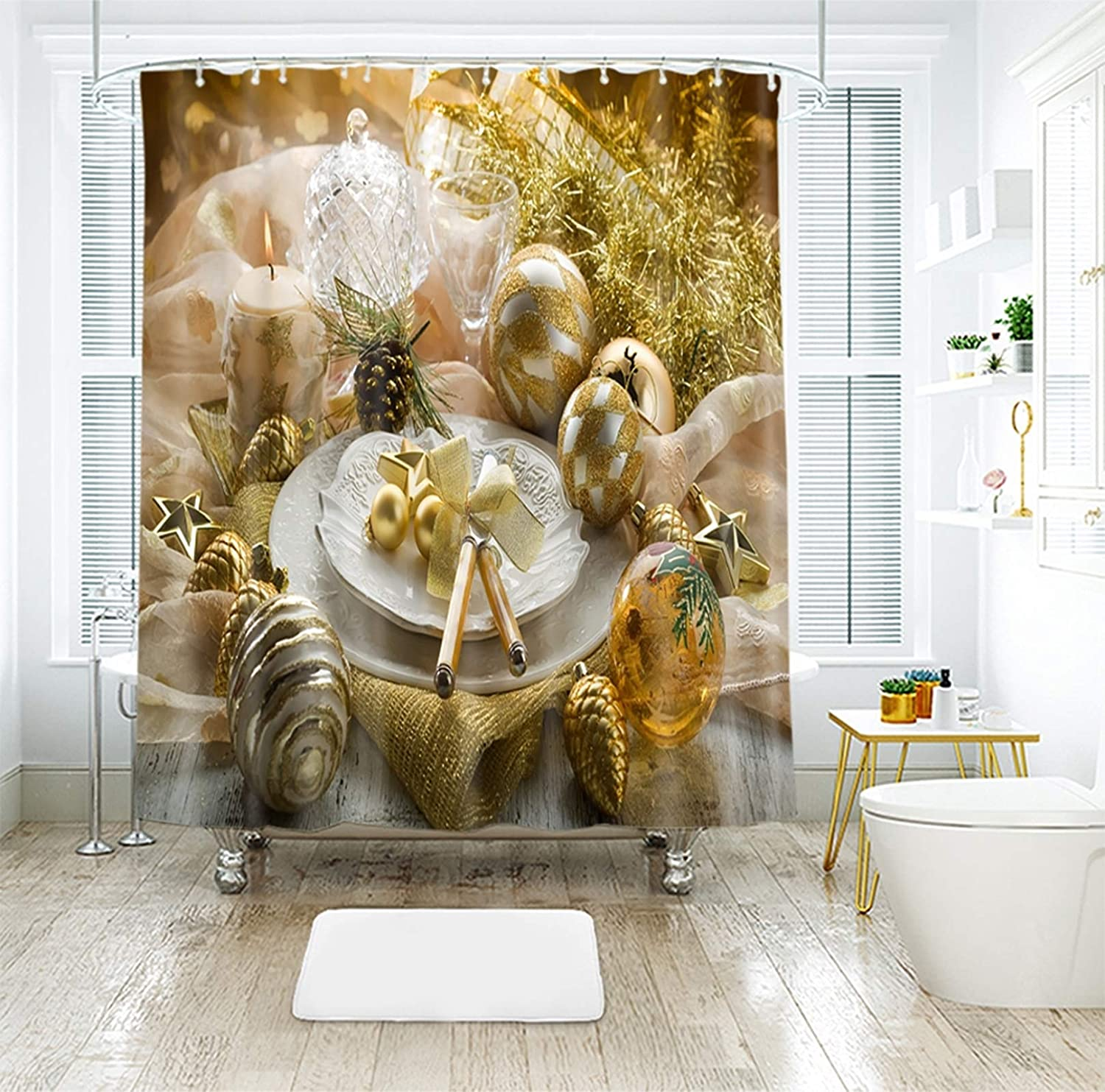Max 64% OFF Daesar Christmas Shower Curtain 72x78 Bath Inch NEW before selling ☆